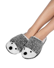 Load image into Gallery viewer, Coffee Shoppe Critter Slide Slipper with hard-bottom sole - Hedgehog