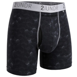 "2UNDR 6"" Swing Shift Boxer Brief - Hexadot"