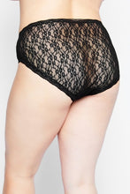 Load image into Gallery viewer, Lace Panty 791644130 - Black