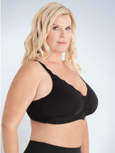 Load image into Gallery viewer, Lucille - Lace Trim Comfort Bralette 5072 - Black