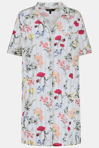 Button Front Nightgown 74780290 - Meadow Floral