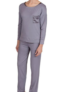 Madison Bamboo Knit Pyjamas 58976 - Iris Grey