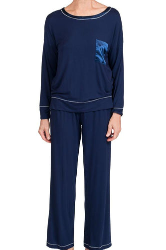 Madison Bamboo Knit Pyjamas 58976 - Navy