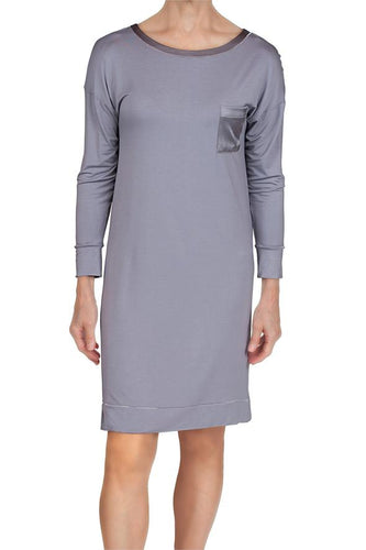 Madison Bamboo Knit Sleepshirt 58971 - Iris Grey