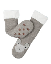 Load image into Gallery viewer, Coffee Shoppe Marshmallow Critter Lounge Socks - Llama
