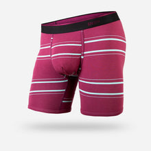 "Load image into Gallery viewer, BN3TH 6.5"" Classic Boxer Brief - Nice Stripe Wine"