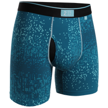 "Load image into Gallery viewer, 2UNDR 6"" Night Shift Boxer Brief - Blue Pix"