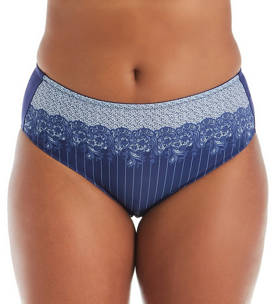Printed Lace Panty 3817 - Blue