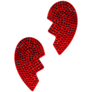 Broken Heart Pasties - Red
