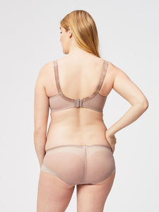 TimTams Flexi Wire Lace Nursing Bra - Taupe