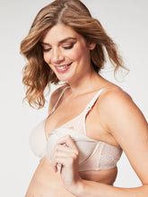 Load image into Gallery viewer, Waffles T-shirt Underwire Nursing Bra - Beige