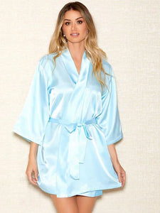 Satin Robe 7893 - Light Blue