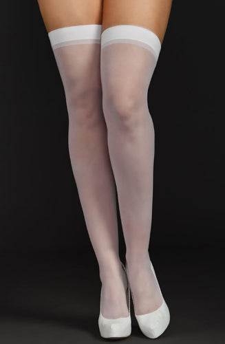 Sheer Thighs Highs 8600 - White