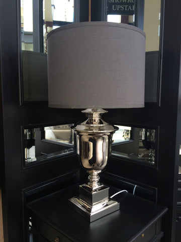 BOSTON TABLE LAMP - CHROME - CLOSING DOWN PRICE - WAS $349