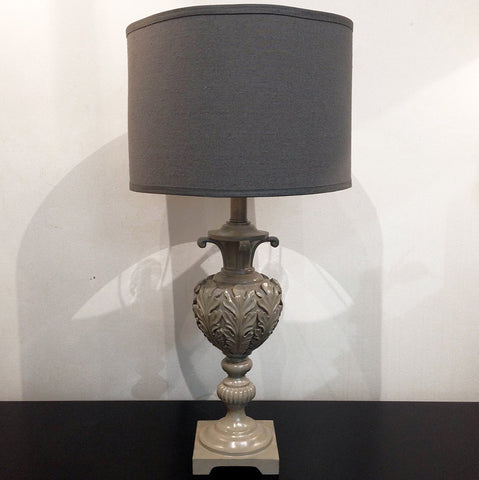 ACANTHUS LAMP - ANTIQUE GREY - CLOSING DOWN PRICE - WAS $249