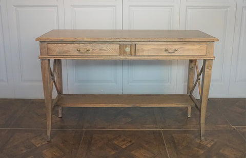 AVIGNON 2 DRAWER CROSS CONSOLE PROVINCIAL OAK - CLOSING DOWN PRICE - WAS $995  !