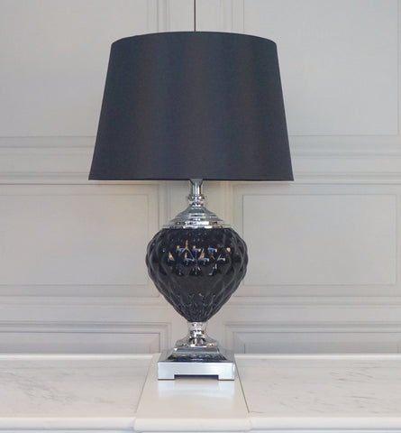 SIENA BLACK GLASS LAMP was $299 now $199 !
