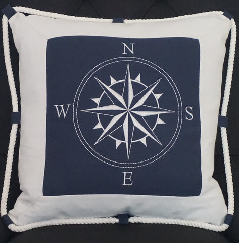 Navy Linen Cushion