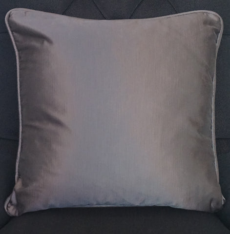 Grey Satin Cushion - CLOSING DOWN PRICE - WAS $89