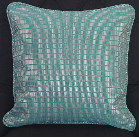Blue Satin Cushion