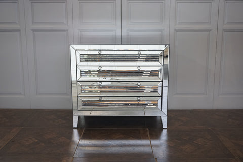 CHELSEA MIRRORED LOUVRE CHEST