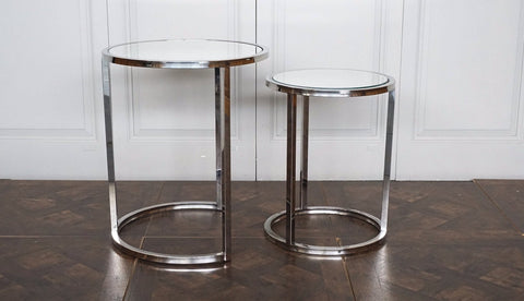 CHELSEA MIRRORED SIDE TABLE - SET OF TWO