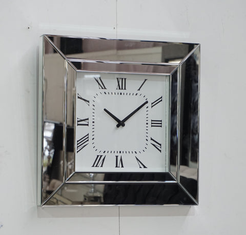CHELSEA MIRRORED DECO CLOCK
