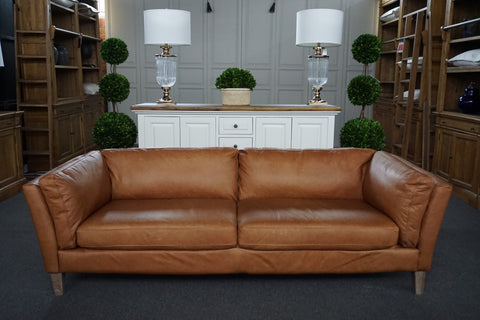 LONDON LEATHER 3 SEAT SOFA - IN STORE CLEARANCE CLOSING DOWN SALE - NOW $2800 !