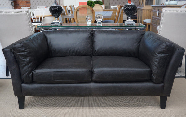 London 2 Seat Leather Sofa Closing Down Price Was
