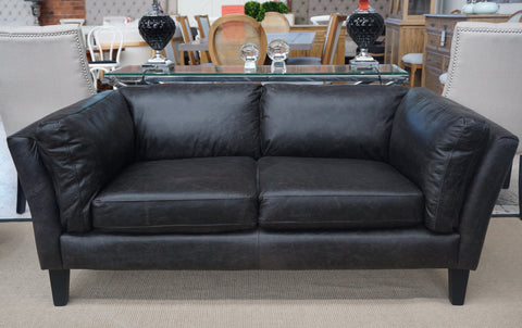 LONDON 2 SEAT LEATHER SOFA - CLOSING DOWN PRICE - WAS $2995 !