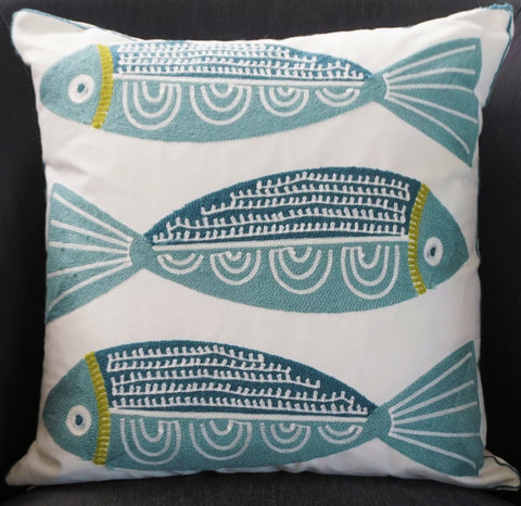 Patterned Cotton Cushion - CLOSING DOWN PRICE - WAS $89