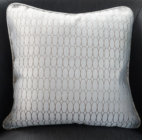 Light Beige Satin Cushion -  CLOSING DOWN SALE - WAS $89