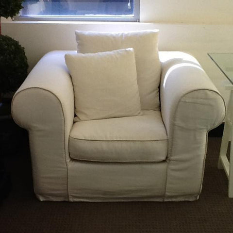 COLCHESTER SLIP COVER CHAIR - CLEARANCE WAS $1495 NOW 50 % OFF $750