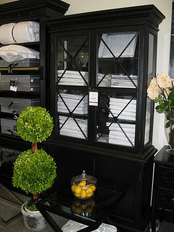 AVIGNON DISPLAY CABINET - IN STORE CLOSING DOWN CLEARANCE now $1800 Floor Stock in Black and $2200 in Oak !