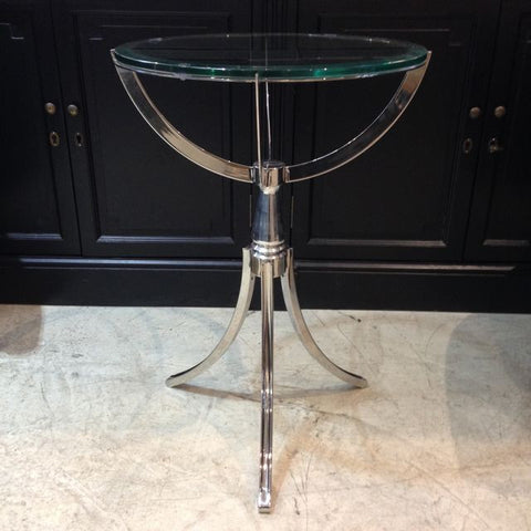 MANHATTAN STAINLESS STEEL ROUND TABLE