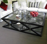 CAMBRIDGE GLASS CROSS COFFEE TABLE - LARGE - CLOSING DOWN PRICE - WAS $1995 !
