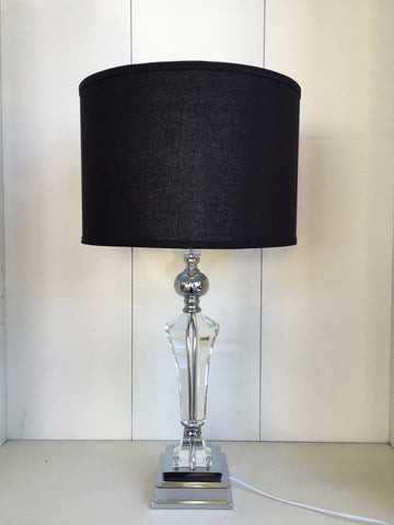 Tall Florence Crystal Lamp