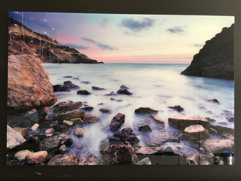 Shoreline tempered glass photography - CLOSING DOWN PRICE - WAS $399