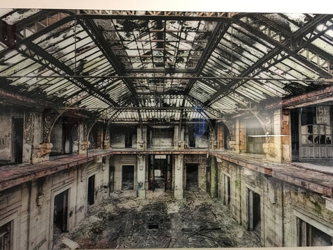 """Bathhouse"" tempered glass photography - IN STORE CLOSING DOWN CLEARANCE now $250 !"