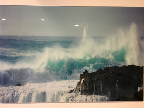 """Ocean"" tempered glass photography - IN STORE CLOSING DOWN CLEARANCE now $250 !"