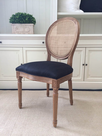 AVIGNON ROUND CANE BACK DINING CHAIR - CLOSING DOWN PRICE - WAS $225