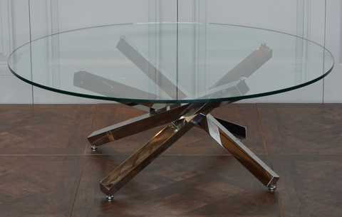 OXFORD COFFEE TABLE IN STAINLESS STEEL