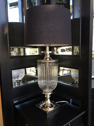 BOSTON FACET LAMP in CLEAR - IN STORE CLOSING DOWN SALE NOW $299 !