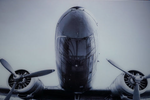 """Twin Engine"" tempered glass photography - CLOSING DOWN PRICE - WAS $499"