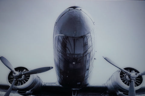 """Twin Engine"" tempered glass photography - CLOSING DOWN PRICE - WAS $749"