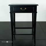 AVIGNON CROSS 1 DRAWER SIDE TABLE VILLA BLACK - CLOSING DOWN PRICE - WAS $499