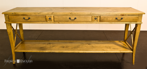 AVIGNON 3 DRAWER CROSS CONSOLE - CLOSING DOWN PRICE - WAS $1495 !