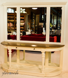 Avignon Curved Console with Mirror Inlays - IN STORE CLOSING DOWN CLEARANCE NOW $1500 !