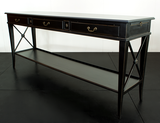 AVIGNON 3 DRAWER CROSS CONSOLE VILLA BLACK - CLOSING DOWN PRICE - WAS $1199