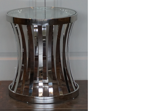 BOSTON SIDE TABLEIN STAINLESS STEEL